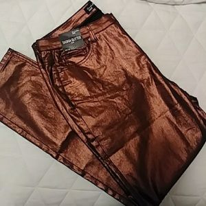Bronze Metallic Pants
