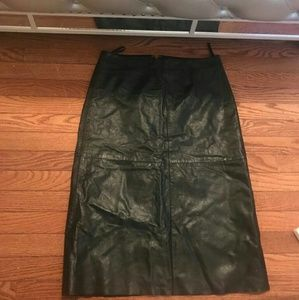 Vintage Leather Gap Skirt