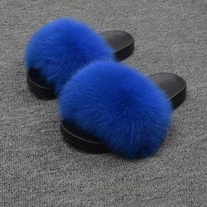 Fox Fur Slippers