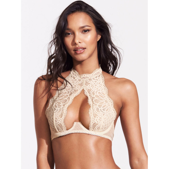 31fa3a89ff33d VICTORIA S SECRET Crochet Lace High-neck Bra