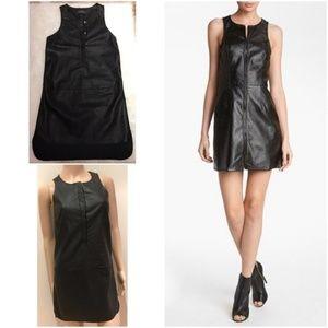 Lux ASTR faux leather shift dress EUC