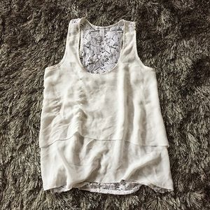 Lace and Ruffle Tank Top
