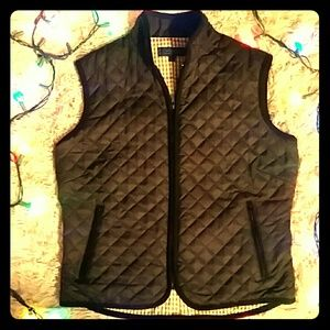 J. Mclaughlin Black Quilted Vest