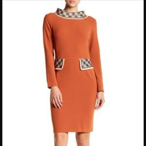 Iren Klairie retro look wool blend dress NEW