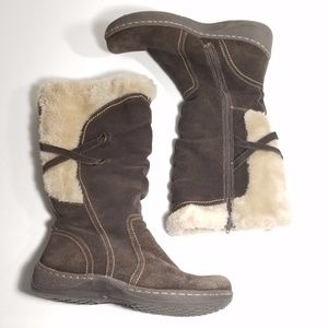 St. John's Bay Leather Boots Faux Fur
