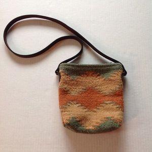 Handbags - Tribal Wool Textured Festival Crossbody Purse Bag