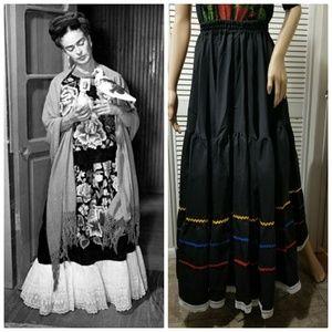 Authentic 1970s handmade maxi skirt