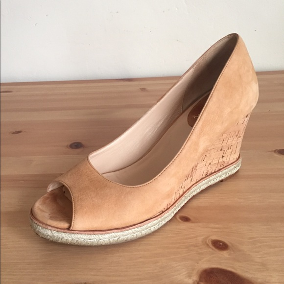 39091704b376 Cole Haan Shoes - Cole Haan Air Ot Jocelyn Suede Wedge Heels Sz 9