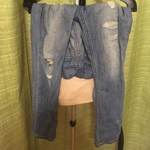 Blue Maternity Jeans w/ Cuts in Knees