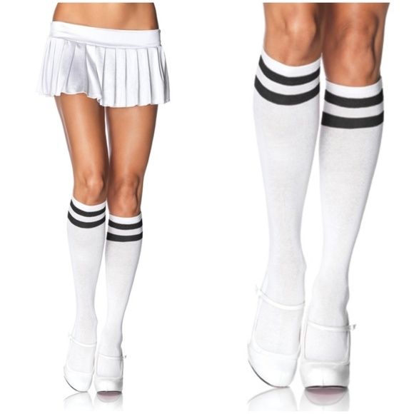cc03bcc2e010d Socks Accessories | Knee High Stripe Roller Derby Black White | Poshmark