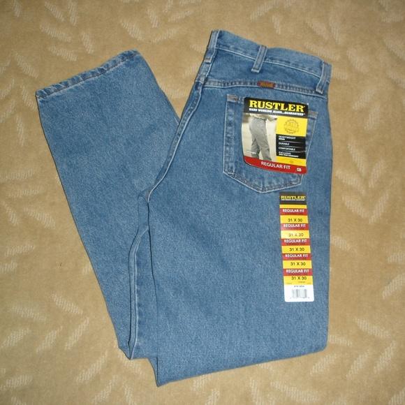 60e50a64 Rustler by Wrangler Pants | Rustler Mens Jeans Wrangler 31 X 30 New ...