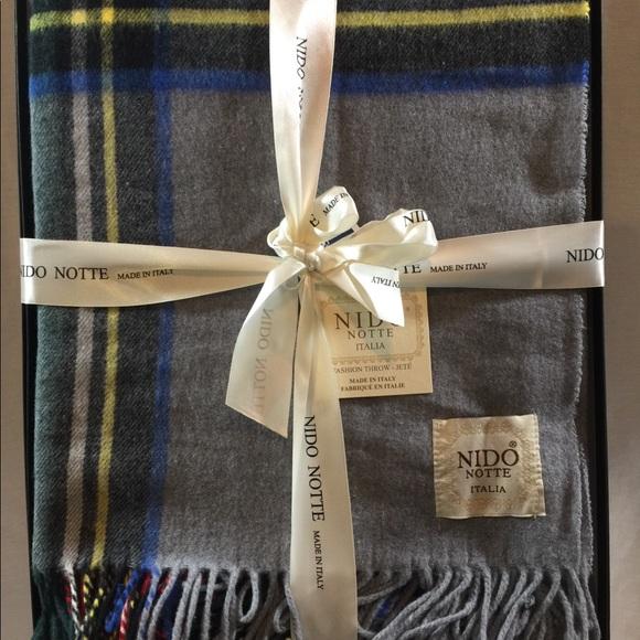 NIDO Other Italian Throw Blanket Nwt Poshmark Mesmerizing Italian Throw Blanket