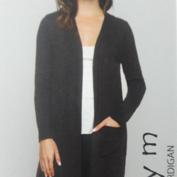 fc94289e67 Matty m Ladies  Duster Cardigan Sweater Charcoal