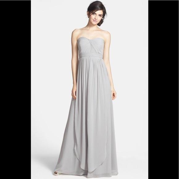 7679edecf19 Jenny yoo Aidan chiffon bridesmaid gown Mineral