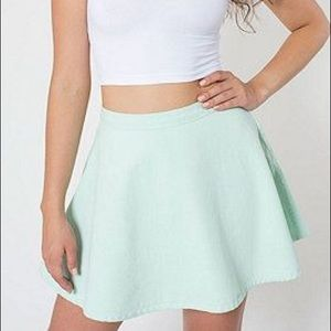 NWOT American Apparel Mint Circle Skirt