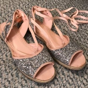 NWOT Madison by Shoedazzle Sparkle Espradrilles