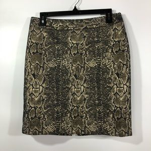 Worthington Animal Print Metallic Skirt