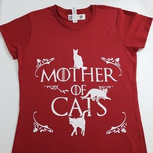 Tops - Mother Of Cats Funny T shirt L