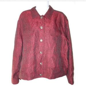 J-Jill-Red-Maroon-Textured-Button--Jacket