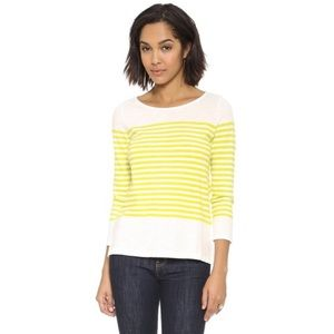 Joie Lime Striped Abina Pullover Tee