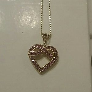 Jewelry - 14k  Gold, Natural Ruby, & Diamond Heart Necklace