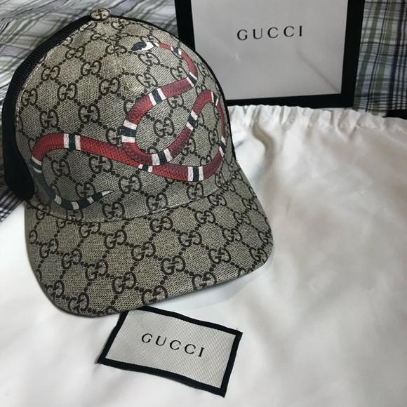 Kingsnake Print GG Supreme Baseball Hat 3589e0aa9f4