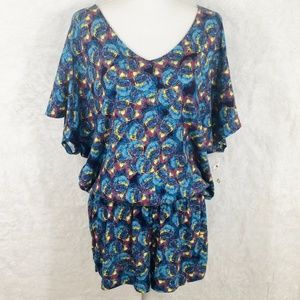 French Connection Feather Seaspray NWT Romper #36