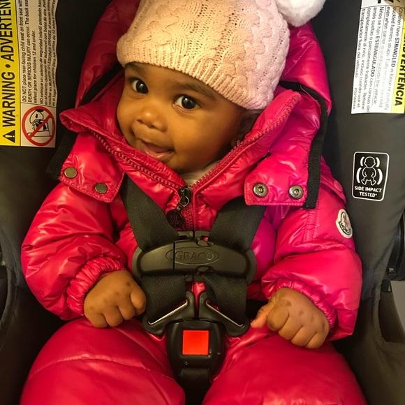 720a05203 Pink Infant Moncler Snowsuit 6-9 Months. M_5a237ee0d14d7bcf6f065324