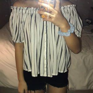 SALE❤️Off the Shoulder Striped Top