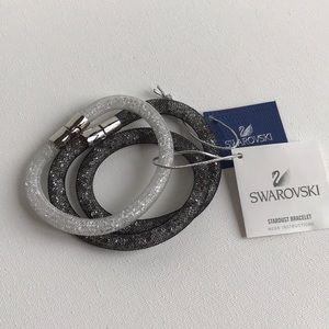 Swarovski Stardust Bracelet Set - Black & White