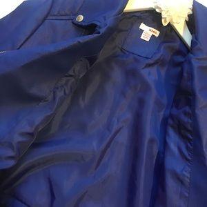 BONGO Jackets & Coats - Electric Blue Cropped Faux Leather Moto Jacket