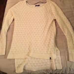Women's Volcom cream colored sweater small