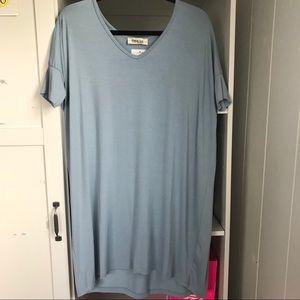 Dresses - Light blue slouchy dress