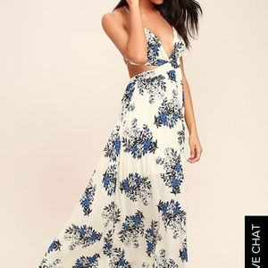 "Lulu's ""Perfect Memory"" Floral Print Maxi"