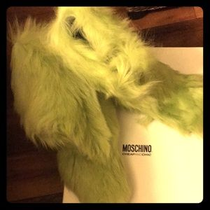 Moschino Boots Sz 38.5 Green Snow Warm XMas Grinch