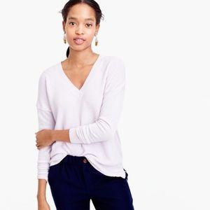 V-neck sweater in merino wool-cotton