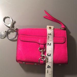 Rebecca Mincoff small wallet hot pink