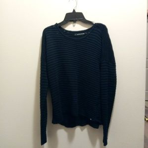 Volcom hold on tight crew crochet knit sweater