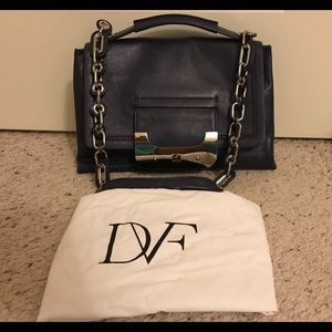 Authentic Diane Von Furstenberg Dark Blue Satchel