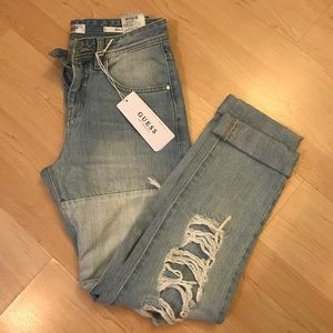 Guess Ripped Boy Friend Jeans NWT