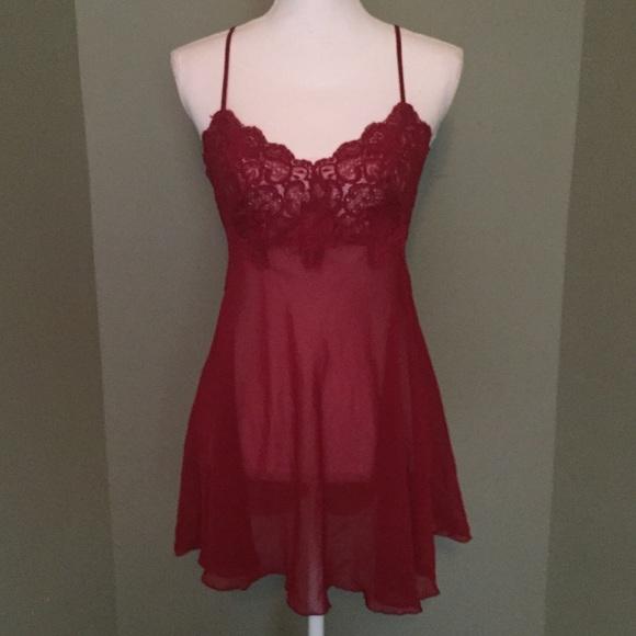 2dc333272ee Victoria s Secret Lace   Sheer Baby Doll Set. M 5a23e6db2ba50ac351072659