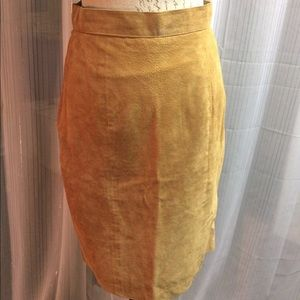 High waisted suede skirt