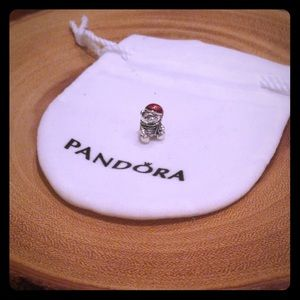 Pandora Christmas Bear Charm, Red & Green