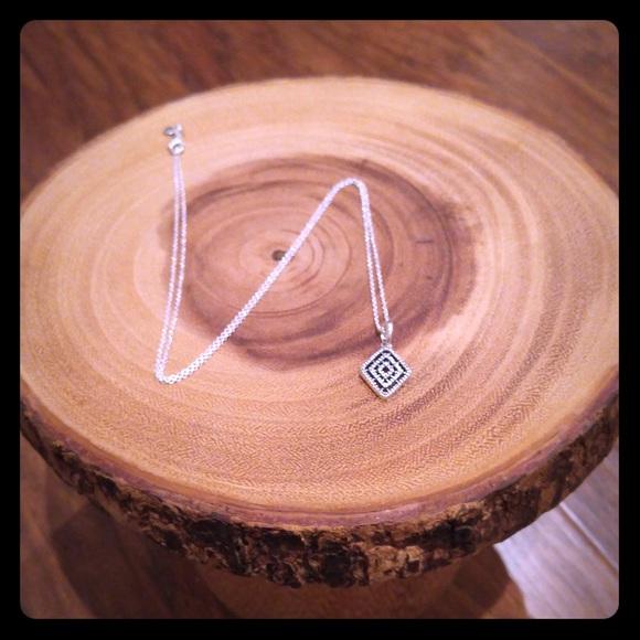Pandora jewelry geometric lines necklace pendant clear cz poshmark geometric lines necklace pendant clear cz aloadofball Images