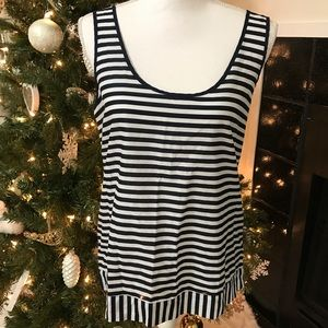 J. Crew Factory White Striped Tank Top