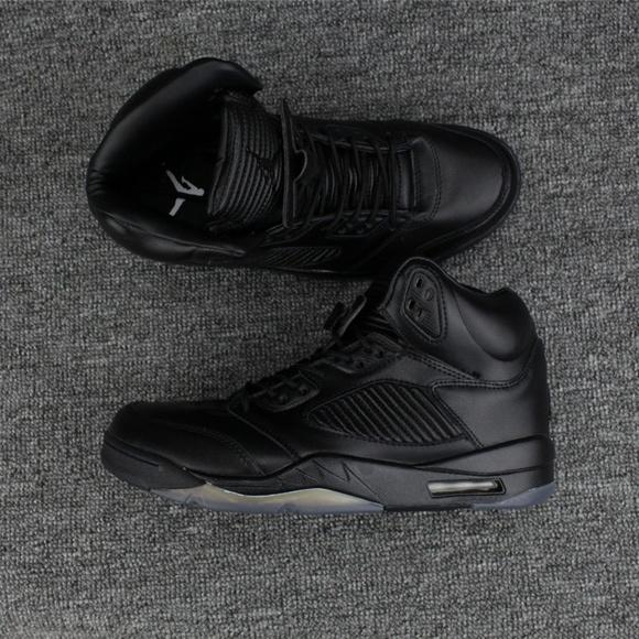 new style e990e ed609 Air Jordan Shoes | Nike 5 Premium Triple Black | Poshmark