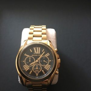 Oversized Michael Kors Gold-Tone Bradshaw Watch