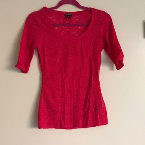 [Express] Pink Lace 1/2 Sleeve Top