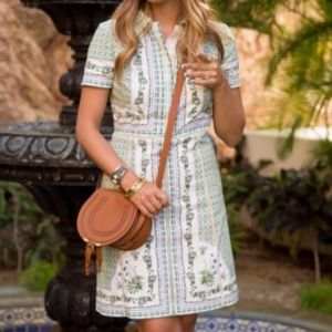 Talia Botanical Garden Poplin Shirt Dress