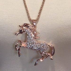 Betsy Johnson Horse Necklace